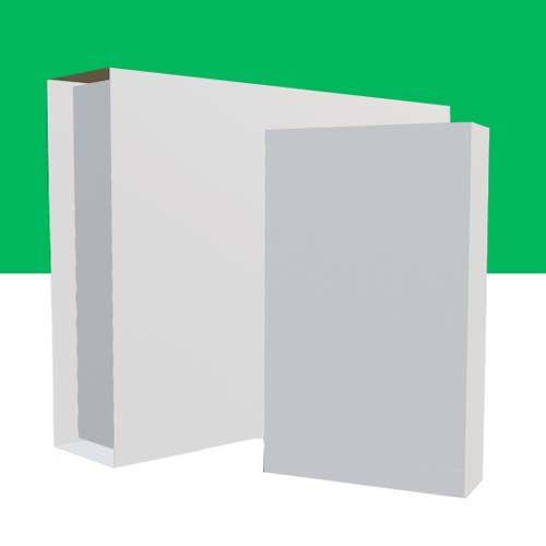 Weiße Buchverpackungen