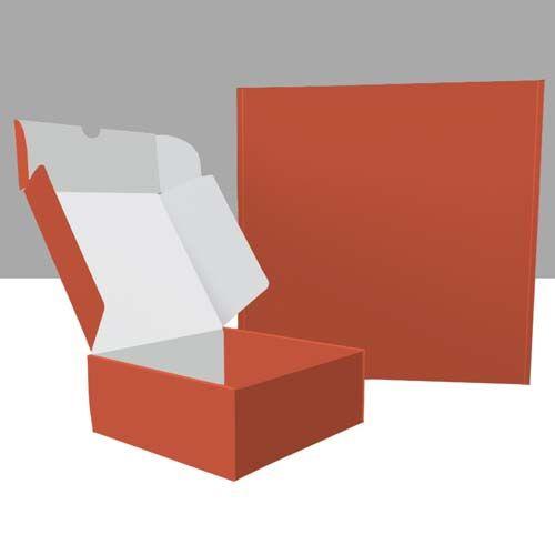 Quadratische Klappboxen außen bedruckt