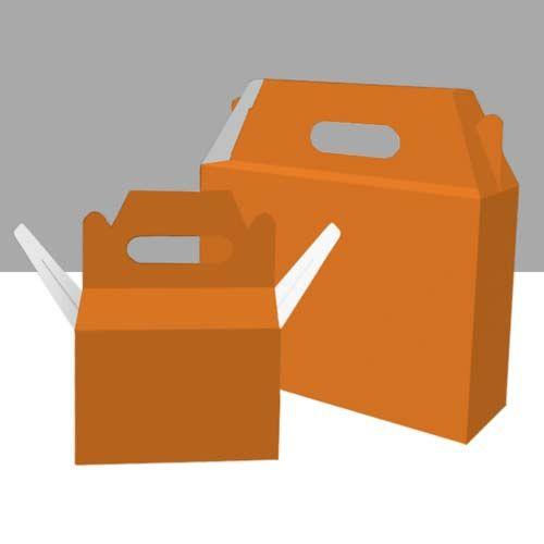 Tragegriff-Kartons außen bedruckt