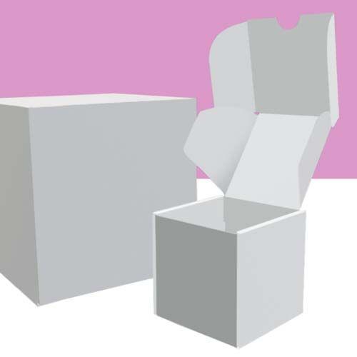 Weiße Würfelboxen