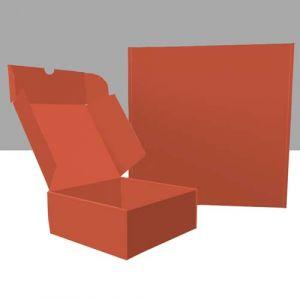 Quadratische Klappboxen außen und innen bedruckt
