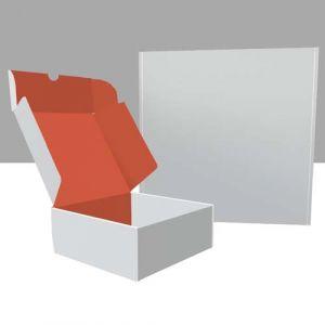 Quadratische Klappboxen innen bedruckt
